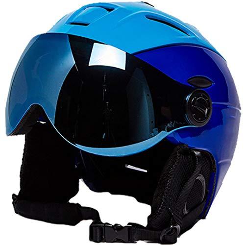 Mann/Frau / Kinder Skihelm/Brille Maske Winter Snowboard Helm Ski/Schlitten Snowmobile Moto Skateboard Sport Sicherheit Blue L