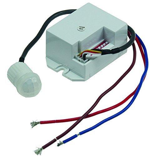 """Mini Einbau-Bewegungsmelder CT-PIR 15\"""" 230V, 800W, 15mm, LED geeignet, weiß"""