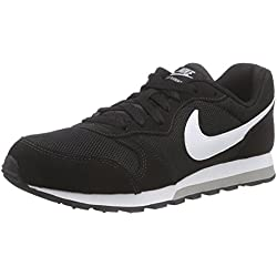 Nike MD Runner 2 (GS) Zapatillas de Running, Niños, Negro (Blackwhitewolf Grey 001), 38 EU (5 UK)