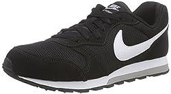 Nike Jungen Md Runner 2 (Gs) Low-Top, Schwarz (Black/White-Wolf Grey), 36 EU