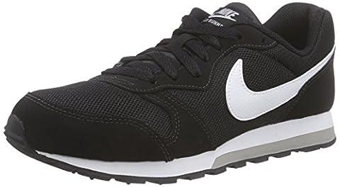 Nike MD Runner 2, Jungen Sneakers, Schwarz (Black/White-Wolf Grey), 38 EU (5 Kinder UK)