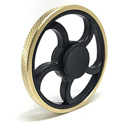 Jawell Fidget Hand Spinner EDC Toy with HighSpeed Spinning Superb Bearing Gold Round Edge Good for Stress Relief and Deep Thought