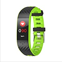 BingWS Activity Trackers Activity Tracker Pedometer Watch and Heart Rate Sleep Monitor Color Screen IP67 Waterproof Sports Smartwatches Smartwatches (Color : Green)