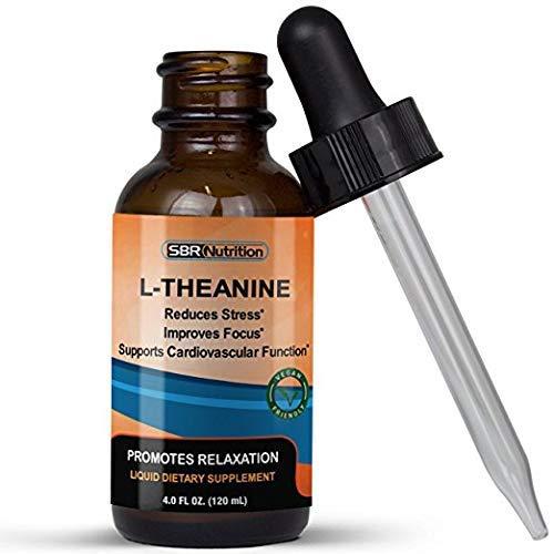 L-Theanine Liquid Food Supplement, 225mg Per Serving, 120mL, 60 Servings, Vegan Friendly -