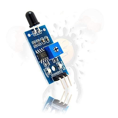 Flamme-sensor (IR Flammen Sensor Modul Infrarot digital analog 760-1100nm 3.3-5V für Arduino ESP8266)