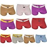 MEN - Lot de 10 - Boxer Shorty Homme Coton - Sport Culotte (Couleur vive, XXL/8)