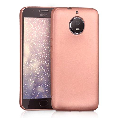 kwmobile Motorola Moto G5S Hülle - Handyhülle für Motorola Moto G5S - Handy Case in Metallic Rosegold