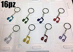 Idea Regalo - Subito disponibile STOCK 16 PEZZI Nota Musicale Portachiavi in metallo BOMBONIERA