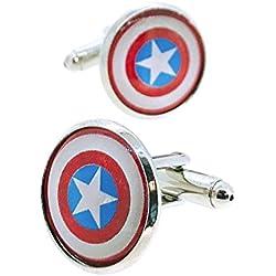 Gemelos para Camisa Capitán América Vintage