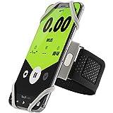 Bone Collection Sportarmband für Handy, Federleichtes Handy Armband zum Joggen Handytasche Sport, Handyhalter Arm für iPhone XS Max XR X 8 7 6 Plus Samsung Galaxy S10 S9 S8 Note 9 - Grau (Groß)