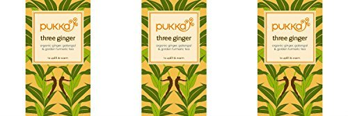 (3 PACK) - Pukka Herbs - Triple Ginger Tea | 20 sachet | 3 PACK BUNDLE by Pukka