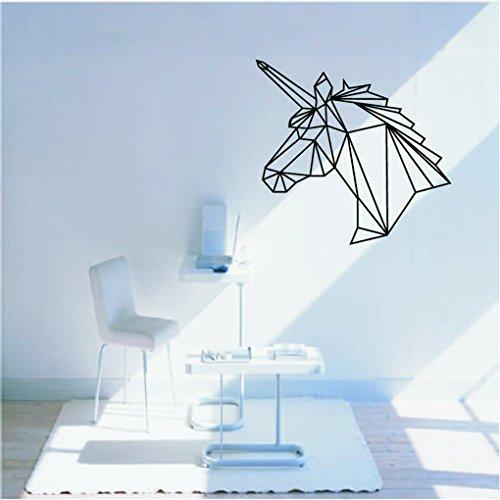 LUFA-Geometric-unicorn-mur-autocollant-amovible-tte-de-cheval-vin-dcalcomanies-Home-Decor