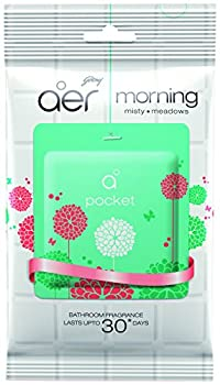 Godrej Aer Pocket Bathroom Fragrance - 10 g (Morning Misty Meadows), Pack Of 4