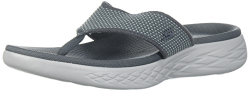 Skechers Herren on The Go 600 Sandalen, Grau (Charcoal), 41 EU