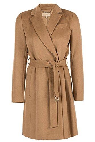 Michael Kors Cappotto Donna Trench-coat Dark Camel, misura 46