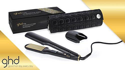 Ghd - Fer A Lisser Styler Max Gold Plaque Large Avec Pochette Rond