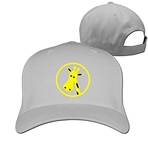 Unisex Giraffe Circle Clipart Adjustable Snapback Trucker Hat Black One Size