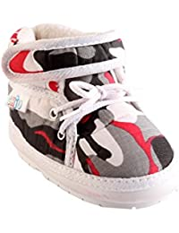 CHiU Chu-Chu White Military Pattern Shoes Strap with Lace for 22-24 Months Baby Boys & Baby Girls (Size - 7 UK, Foot Length - 14.4 cm)