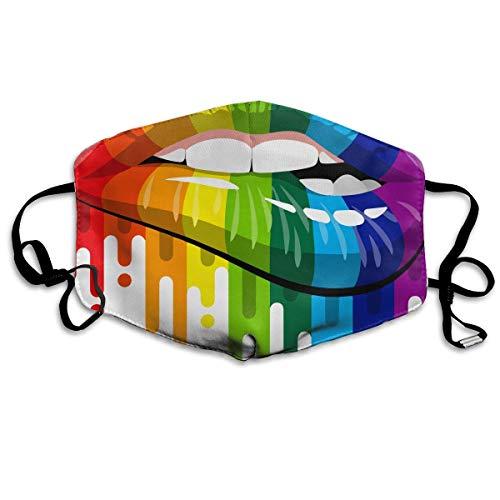 Anti-Allergien Anti-Allergie Ohrschlaufen Halbgesichtsmaske Atemschutzmasken Winddicht Polyester-Maske verstellbar elastisch Band Gay Homosexuelle Lesbische Regenbogenlippen Stolz - Olay Bänder