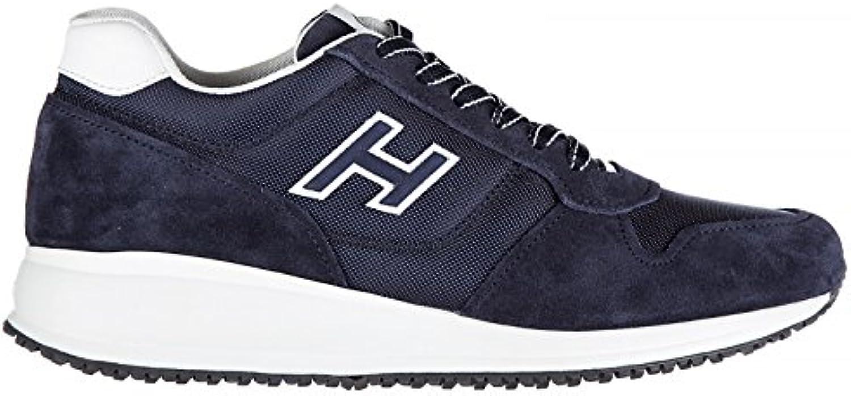 Hogan Zapatillas Para Hombre Azul Blu Denim + Bianco