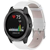 Hunpta@ UhrenarmbandFür Garmin vivoactive 3, Echtes Leder Uhrenarmband Armband Armband