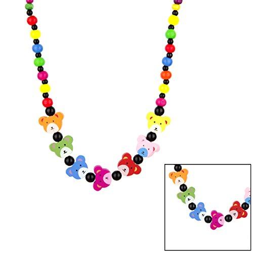 Preisvergleich Produktbild Suri 's Little Girl Colorful Holz Teddy Bär Halskette