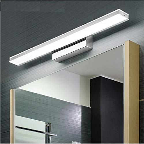 XIAJIA -9W 900LM Lámpara LED de pared, Lámpara de espejo Aplique de Baño LED 400mm 6000K para Espejo...