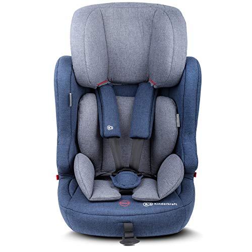 Kinderkraft KKFFIX2NAV0000 Fix2Go Kindersitz Autokindersitz mit Isofix 9 bis 36 kg Gruppe 1 2 3, blau