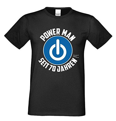 Geschenk Zum 70. Geburtstag Herren T Shirt Power Man Seit 70 Jahren Geschenk  Idee
