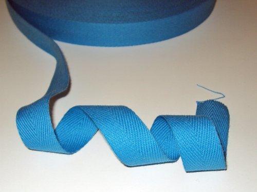 5M Blau Baumwolle-fischgräten-köper Gurtband Band 20mm. in vielen nützlich nähen, bunting und craft-projekte (Herringbone-band)