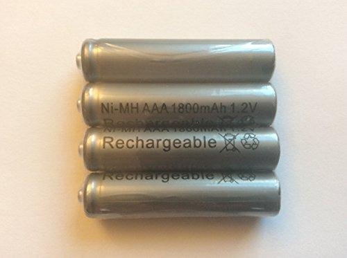 4x alta capacidad 1800mAh aaa ni-mh baterías recargables 1,2V, para teléfono inalámbrico, descarga baja
