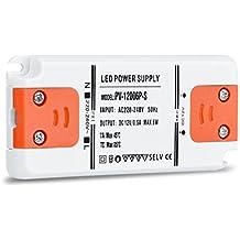 Liqoo® 6W LED Trafo Transformador Conversor Adaptador Super Mini Ultradelgado Conductor Eléctrico Fuente de Alimentación para Bombillas DC 12V G4 MR16 GU10 Tira de LED 0.5A Sin Carga