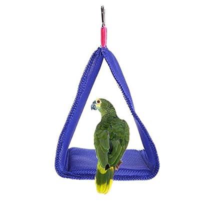 Keersi Breathable Mesh Hammock Bird Nest House for Parrot Budgie Parakeet Cockatiel Cockatoo Conure Canary Lovebird… 2