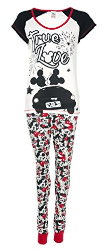 Womens Disney Mickey And Minnie Mouse True Love Pyjamas (Disney Hat Frauen)