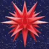 A1e, rot, 3er Set Weihnachtssterne Herrnhut für Innen, Kunststoff, 13 cm, rot, Adventsstern, Stern, Sterne, Advent, Weihnachten, original Herrnhuter Stern Komplettset mit Stromversorgung für 3 Sterne