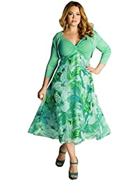 VJGOAL Damen Kleid, Frauen Plus Size Mode V-Ausschnitt Floral Maxi Abend  Cocktail Party 710791f601