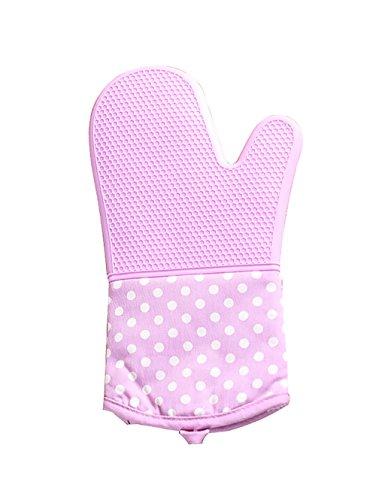 LHP Shoutao Wasserdichte Handschuhe Spezielle Ofen Isolierhandschuhe Microwave Oven Handschuhe Silica Gel Anti-Scald Handschuhe (Farbe : Lila)
