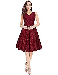 8d3669a70b22 Jenish Enterprise One piece fancy frocks for women western wear skater dress  knee length (Free