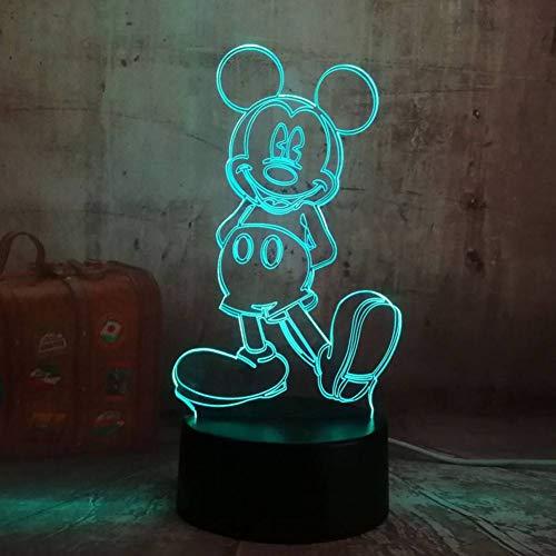 HHYXIN Nachtlicht Cartoon Nette Mickey Mouse 3D Led Nachtlicht Illusion Neuheit Tisch Schreibtischlampe Geburtstag Kind Kinder Wohnkultur