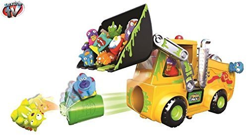 The Trash Pack Series - The Load n' Launch Bulldozer Set - Playset Toy Includes 2 New Exclusive Gang Trashies by The Trash Pack Series Playset Toy