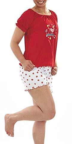 Graziella Pyjama Katja 2-Teiler Shorts und Shirt 44/46 Nachtwäsche 100% Baumwolle Schlafanzug