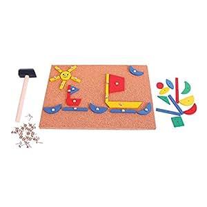 Bigjigs Toys Tap a Shape Art Set - Tap Tap Art
