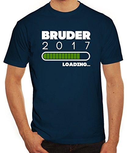 Geschenkidee Herren T-Shirt mit Bruder 2017 Loading... Motiv von ShirtStreet Dunkelblau