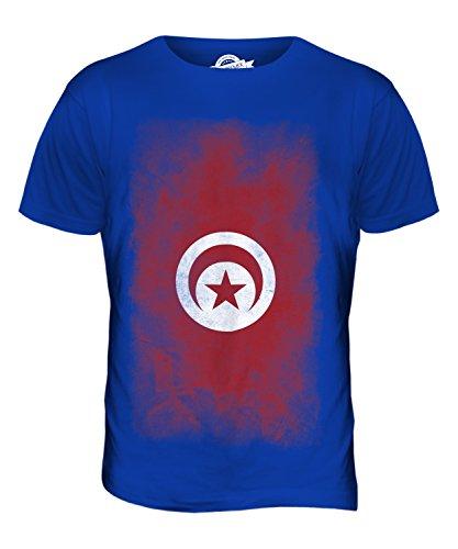 CandyMix Tunesien Verblichen Flagge Herren T Shirt Königsblau