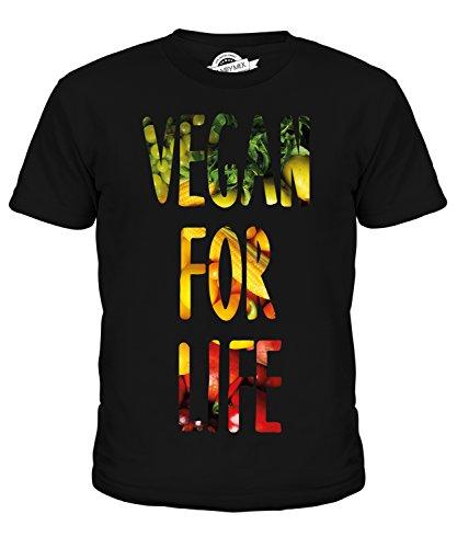 CandyMix Vegan Für Das Leben Unisex Jungen Mädchen T Shirt, Größe 2 Jahre, Farbe Schwarz (Leben Rezept Natur)