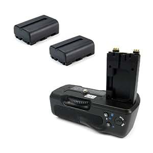 Batterie Grip / Poignée verticale pour VG-B30AM / VG-B50AM + 2x Batterie pour Sony NP-FM500H