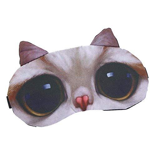hefeibiaoduanjia Lustige 3D-Augenmaske für Hunde und Katzen, für Reisen -