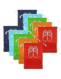LZYMSZ Zapatos de Viaje Bolsa de Acabado Bolsa a Prueba de Polvo Zapatos Bolsa de Almacenamiento Bundle Bolsas de Organizador de Bolsillo Ventana Transparente para Botas, Tac¨®n Alto