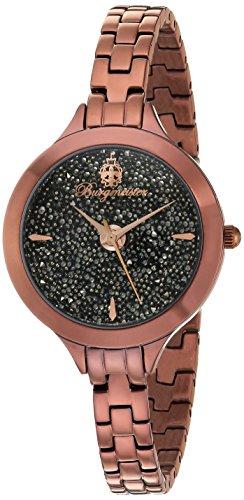 Burgmeister Femme Montre à Quartz Affichage analogique Cadran Noir Bracelet en Acier Inoxydable Brun bm536–095