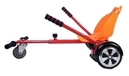 Sumun Sbksgt Asiento Kart Hoverboard, Rojo/Naranja, 6.5